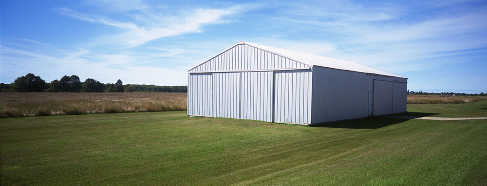 White Metal Barn